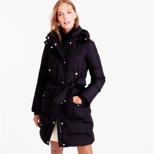 nwot jcrew belted puffer coat b5123